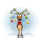 Cartoon-reindeer